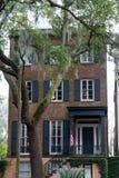 Brick American Townhouse by Oak Tree Stock Photography