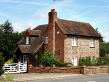 Brick And Flint Cottage Stock Images