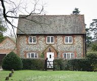Brick And Flint House Royalty Free Stock Photography
