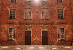 Brick apartment building Royalty Free Stock Image