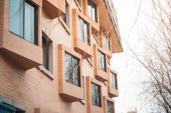 Brick apartment condominiums. Royalty Free Stock Photography