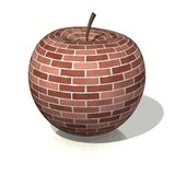 Brick apple Stock Image