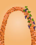 Brick arc with grape Stock Photos