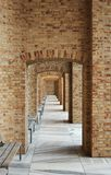 Brick arcade in the town of Velehrad near the basilica royalty free stock image