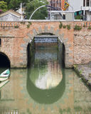 Brick arch bridge. In Padua Stock Photography