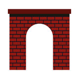 Brick arch icon, flat style. Brick arch icon in flat style on a white background vector illustration