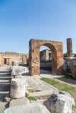 Brick Arch In Pompeii Royalty Free Stock Photos
