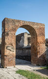 Brick Arch in Pompeii Royalty Free Stock Photos