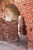 Brick arch of Tartu Cathedral, Estonia, earlier known as Dorpat Cathedral Stock Photo