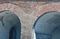 Brick Arch Tunnel. Detail of Brick Arch Tunnel Royalty Free Stock Photo