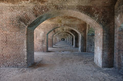 Brick arches. At Fort Jefferson National Park in the Dry Tortugas Stock Photos