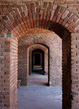 Brick arches. Fort zachary taylor,key west florida stock photography
