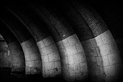 Brick arches Royalty Free Stock Images