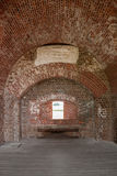 Brick Arches in Fort Pulaski. Arches and window formed of brick in a civil war era fort stock photo