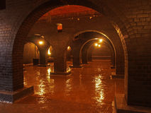 Brick arches, Victorian reservoir Stock Photos