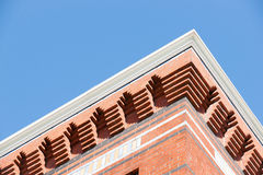 Brick architectural detail exterior wall Stock Photography
