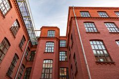 Brick architecture of the Golutvin Manufactory in Moscow, Russia Stock Image