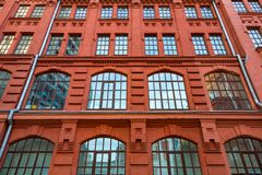 Brick architecture of the Golutvin Manufactory in Moscow, Russia Royalty Free Stock Photos