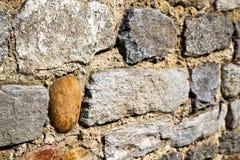 Brick in  arsago seprio  street lombardy italy  varese Stock Photo