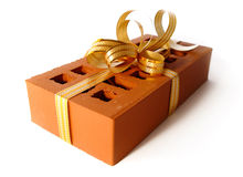 Brick as a gift concept Royalty Free Stock Images