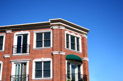 Brick and Awnings 2. Old brick building with awnings Stock Image