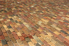 Brick Background. Wide angle of a brick walkway Royalty Free Stock Images