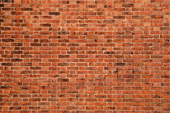 Brick Background. Large expanse of brick wall for background landscape version Stock Photography
