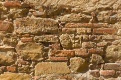 Brick background. Original old Tuscan brick wall from Tuscany Stock Photos