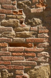 Brick background. Original old Tuscan brick wall from Tuscany Royalty Free Stock Photography