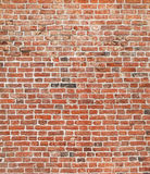 Brick background. Red brick wall stock photo