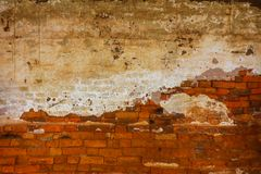 Brick background ancient wallpaper. Brick red wall orange brown view pattern solid old concrete simplicity block dark brickwork built construction structure Royalty Free Stock Photo