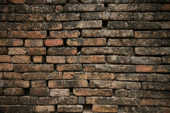 Brick background. brick background and empty area for text. wall brick in retro style. old brick or crack brick background Royalty Free Stock Images