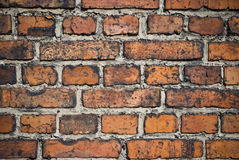 Brick background. Closeup of wall of bricks stock photography