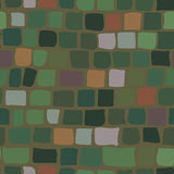 Brick background in green color. seamless texture Royalty Free Stock Images