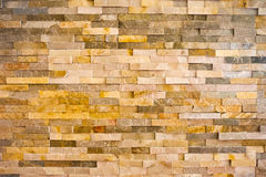 Brick background. Irregular, yellow, brick background. big image Stock Photo