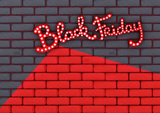 Brick background with a message about the Black Friday sale Royalty Free Stock Photo