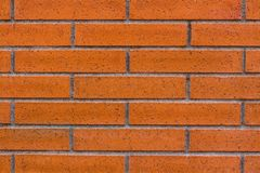 Brick background, orange and brown color. royalty free stock image