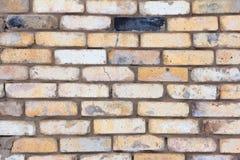 Brick background, wall of old baked brick stock photo