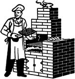 Brick Barbeque Royalty Free Stock Images