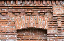 Brick beautiful facade of the building Royalty Free Stock Image