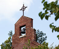Brick bell tower of church Royalty Free Stock Images