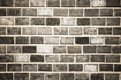Brick big bw. Background of red brick wall texture Royalty Free Stock Image