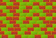 Brick bio wall. Wall from multi-coloured bricks made of natural elements Stock Photography