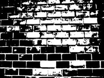 Brick Black and White Illustration Stock Images