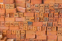 Brick. Block,cement,art,red Stock Image