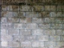 Brick block concrete wall surface Royalty Free Stock Photos