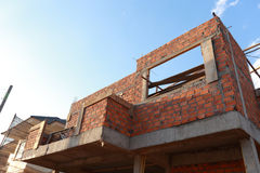 Brick block in residential building Stock Photography