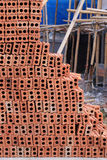 Brick block in residential construction Stock Image