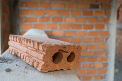 Brick block used for industrial in residential building Stock Images