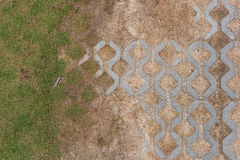 Brick block walking pavement way Royalty Free Stock Image
